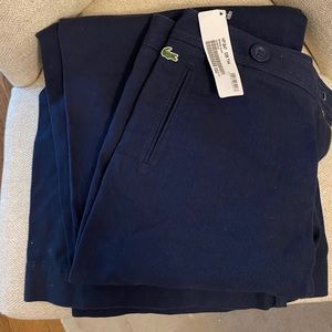 NEW Lacoste Navy Wide Leg Pant in Size 44